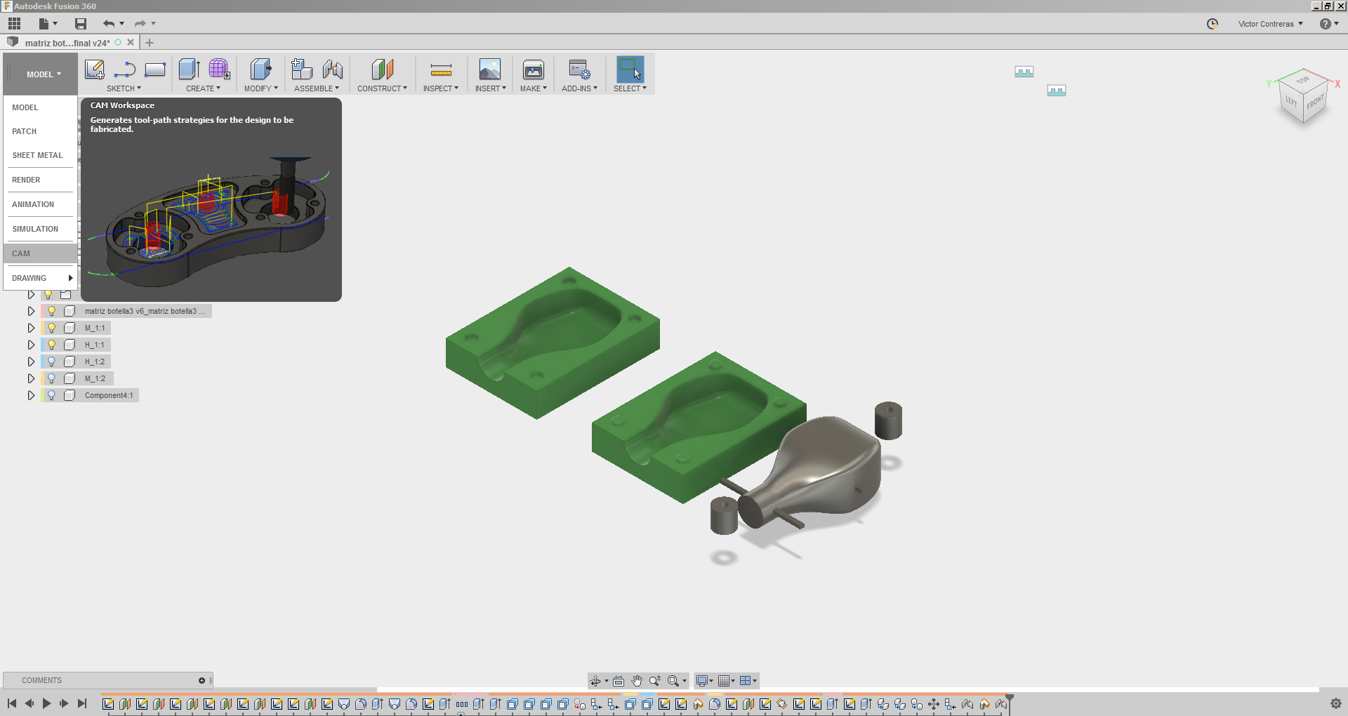 Tutorial Fusion 360 CAM 3D + ShopBot - Fab Lab Universidad